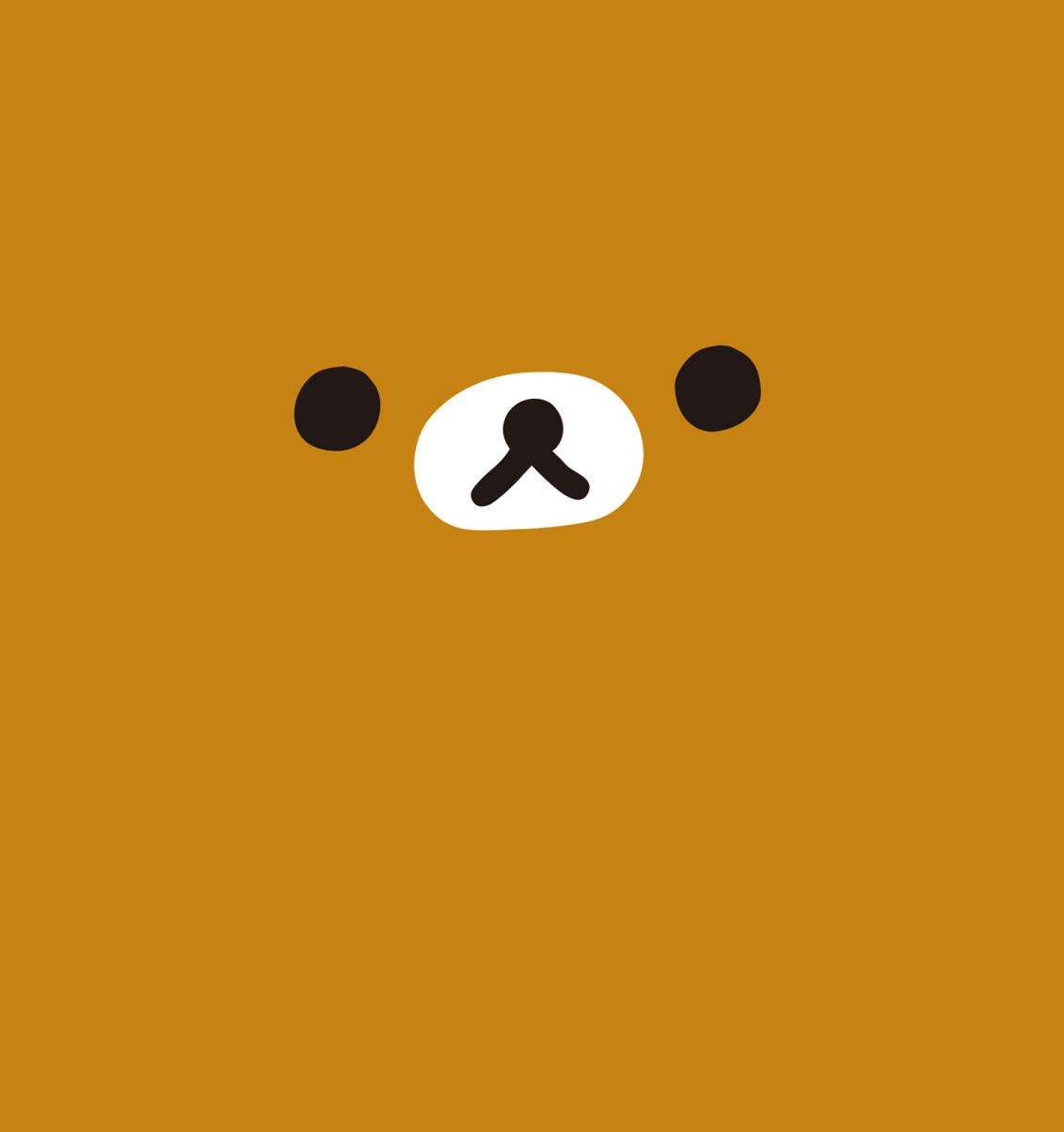 Orange Bear Face Nose Eyes Wa