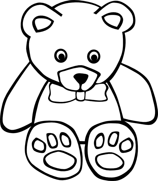Teddy Bear Outline Clipart | Clipart library - Free Clipart Images - Bear Face PNG HD