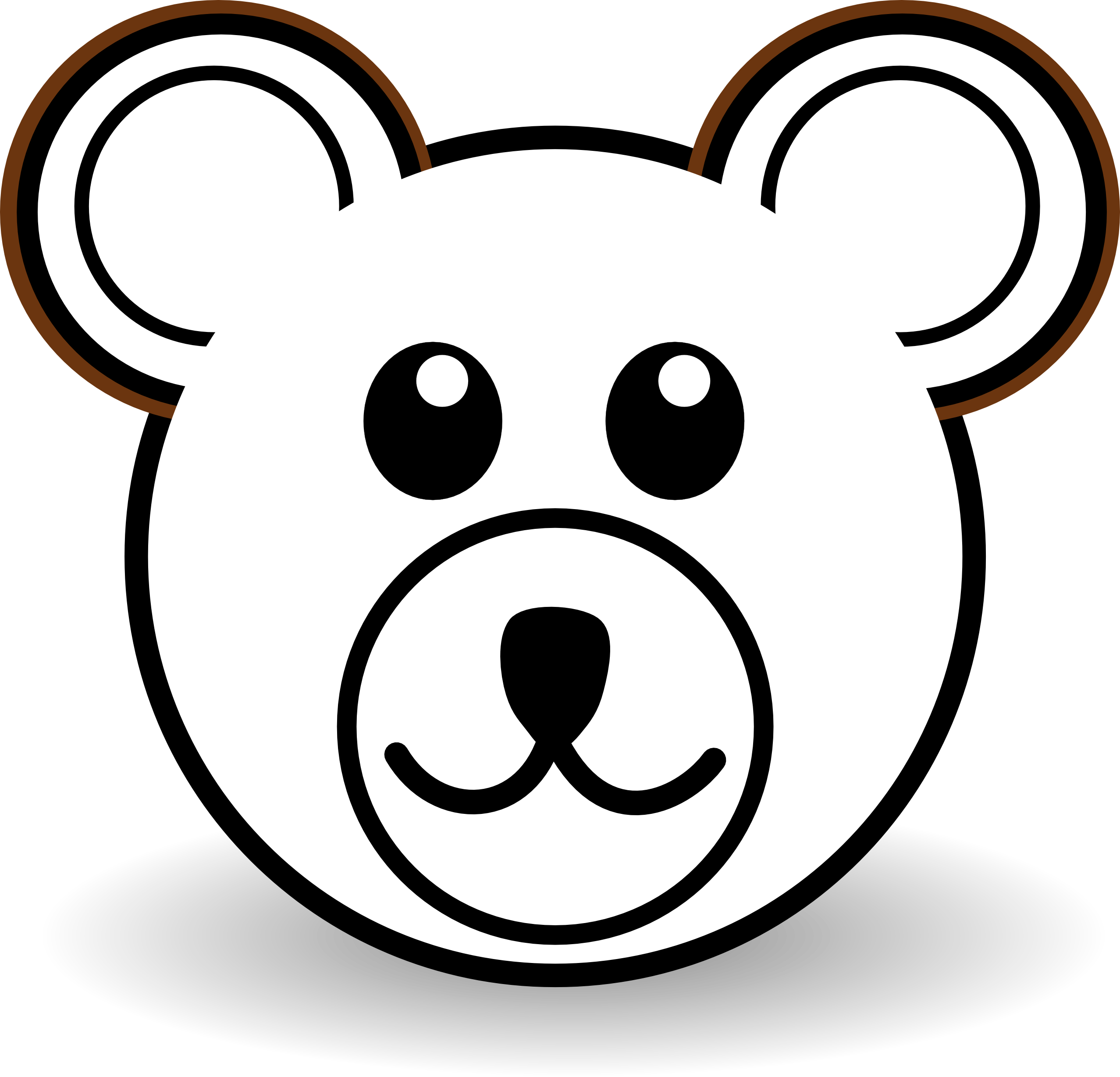 Bear Face PNG HD