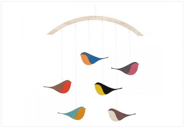 6 jolis mobiles pour bébé - Bebe Oiseau PNG