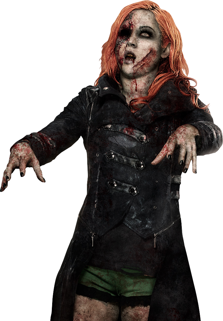 Becky Lynch 2016 Zombie PNG by AmbriegnsAsylum16 PlusPng.com  - Zombie PNG