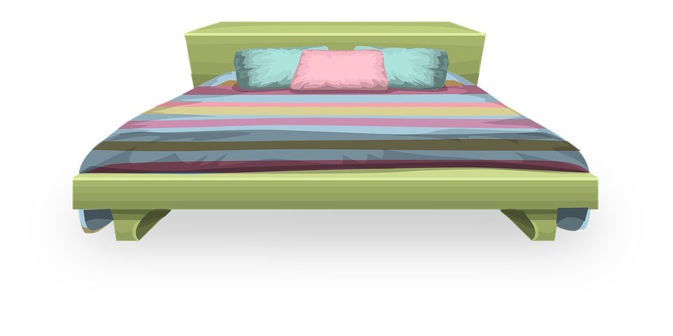 Bed, Pillow, Comforter, Blanket, Furniture, Bedding - Bed HD PNG