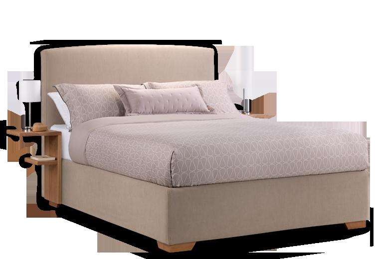 Cream Fabric Max Storage Bed