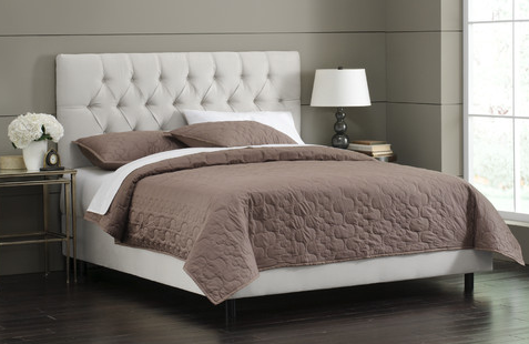 TUFTED BED - White - Bed HD PNG