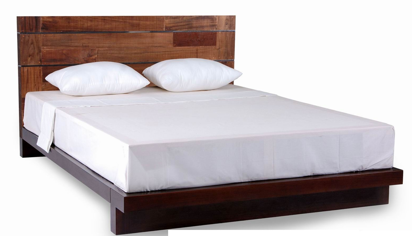 Modern reclaimed wood platform bed modern beds grand rapids by woodland creek