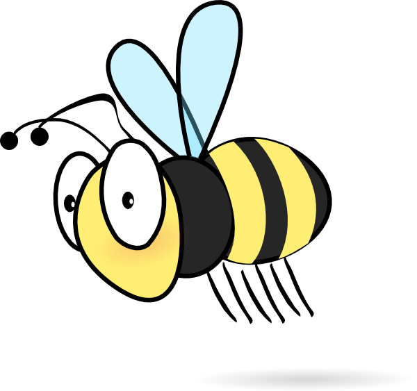 Bee clip art - vector clip art online, royalty free public domain - Cartoon  Bees - Bee Free PNG
