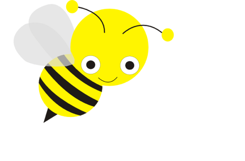 Free Bee Clip Art from the Public Domain - Free PNG Honey Bee - Bee Free PNG