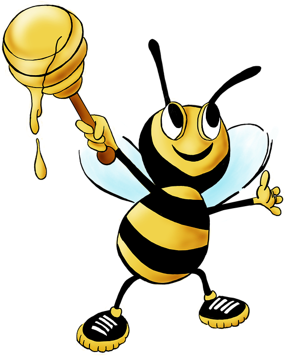 honey bee bee honey animal insect yellow nectar - Bee Free PNG