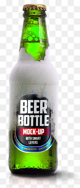 Green beer bottle, Beer Bottle, Green, Renderings PNG and PSD - Beer Bottle PNG HD