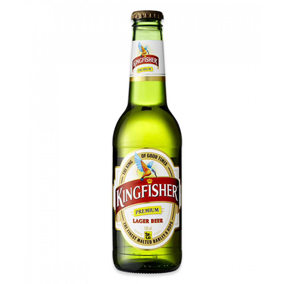 Kingfisher 330ml - Beer Bottle PNG HD