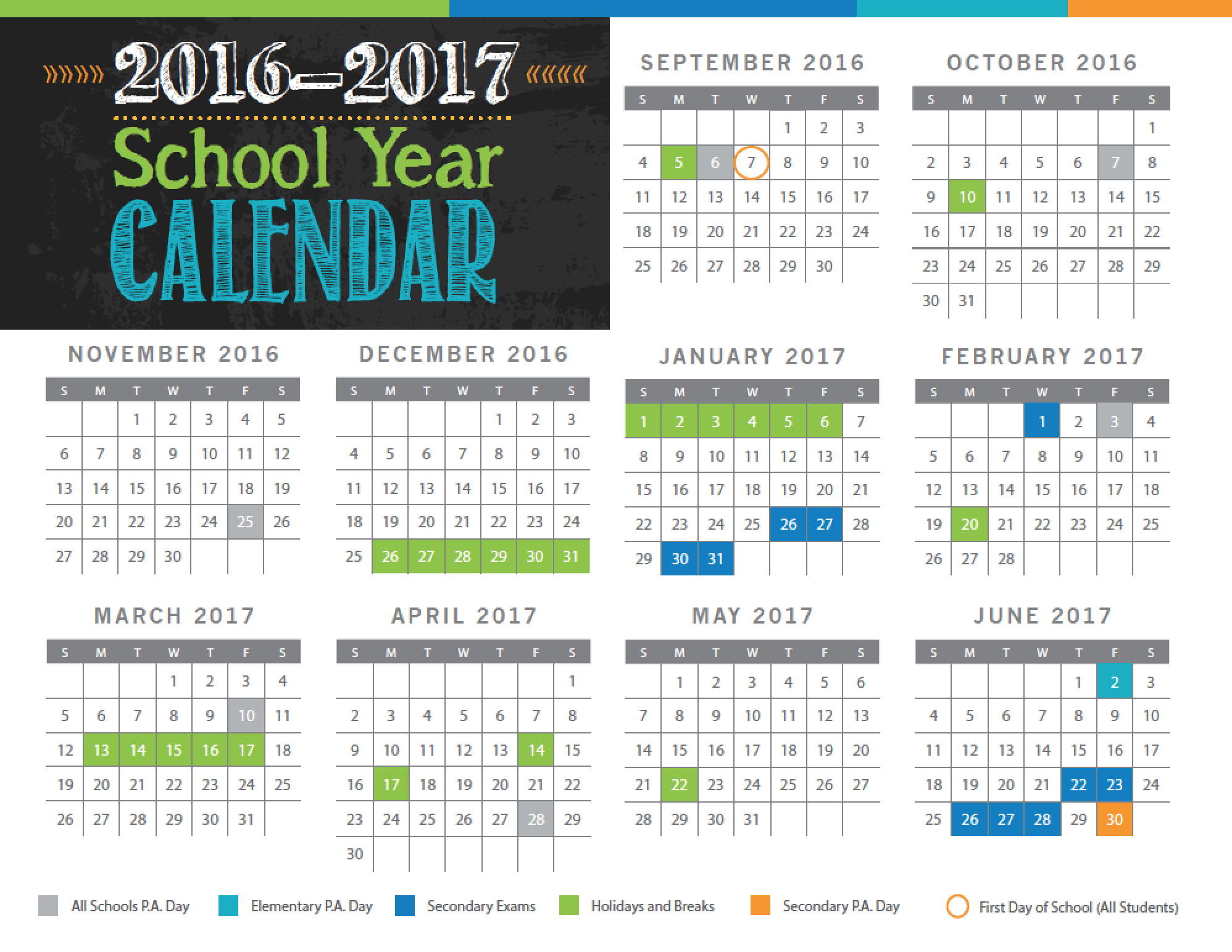 Calendar approval sets school
