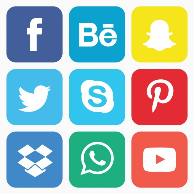 Social icon set - Behance Vector PNG
