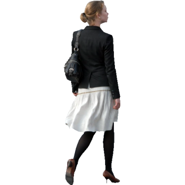 Girl Walking Away.png - Behind Girl PNG