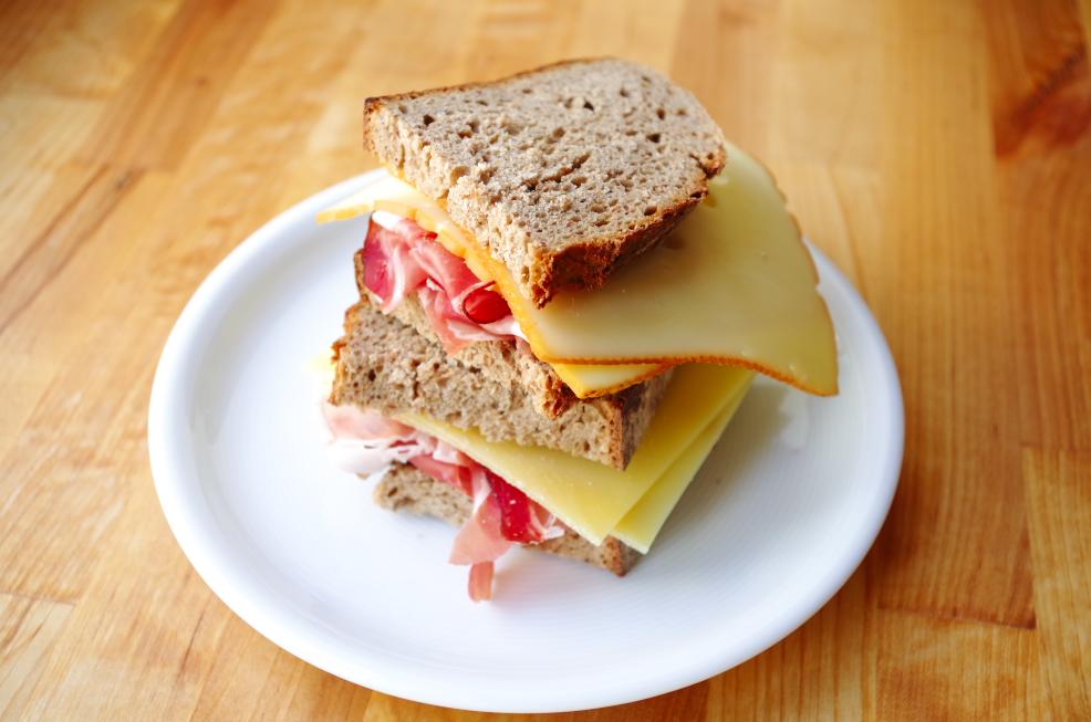 Belegtes Brot mit Schinken - Belegtes Brot PNG