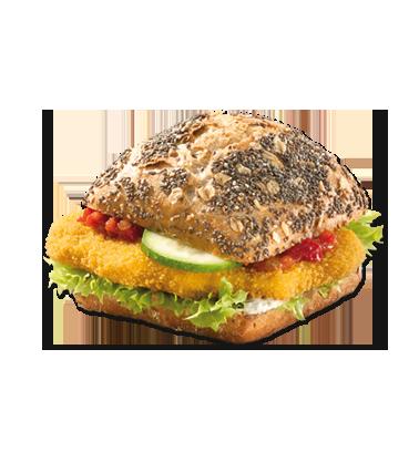 Chiabrötchen Gemüseschnitzel vegan - Belegtes Brot PNG