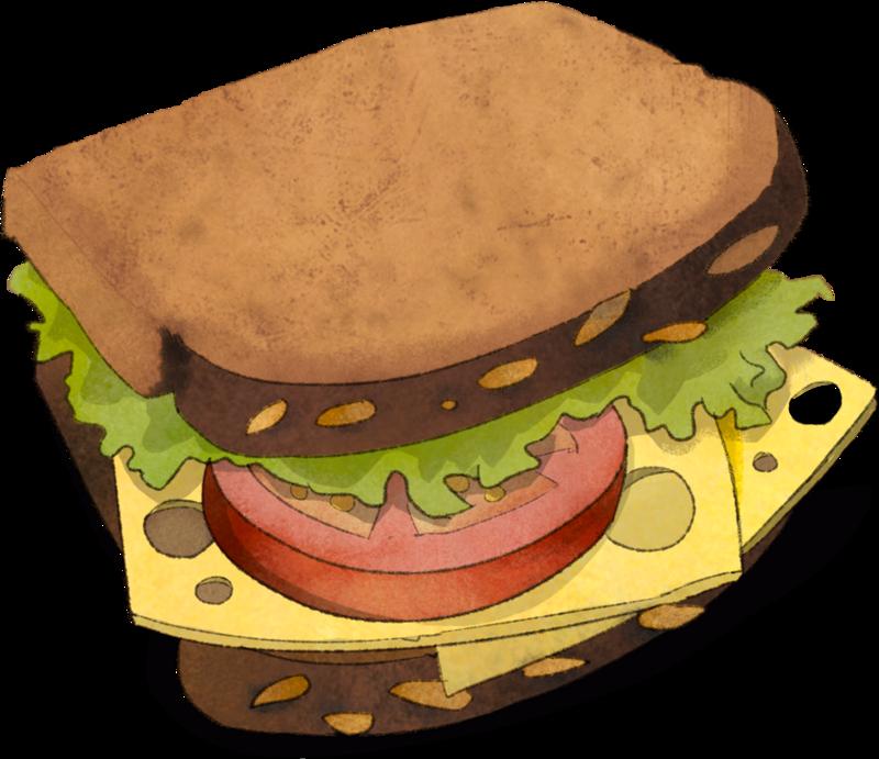 pausenbrot clipart 2 - Belegtes Brot PNG