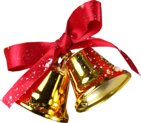 Two christmas bell PNG
