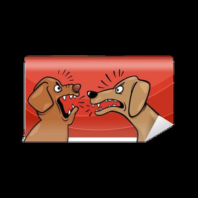 Fototapete Wütend bellenden Hunden Cartoon u2022 Pixers® - Wir leben, um zu  verändern - Bellender Hund PNG