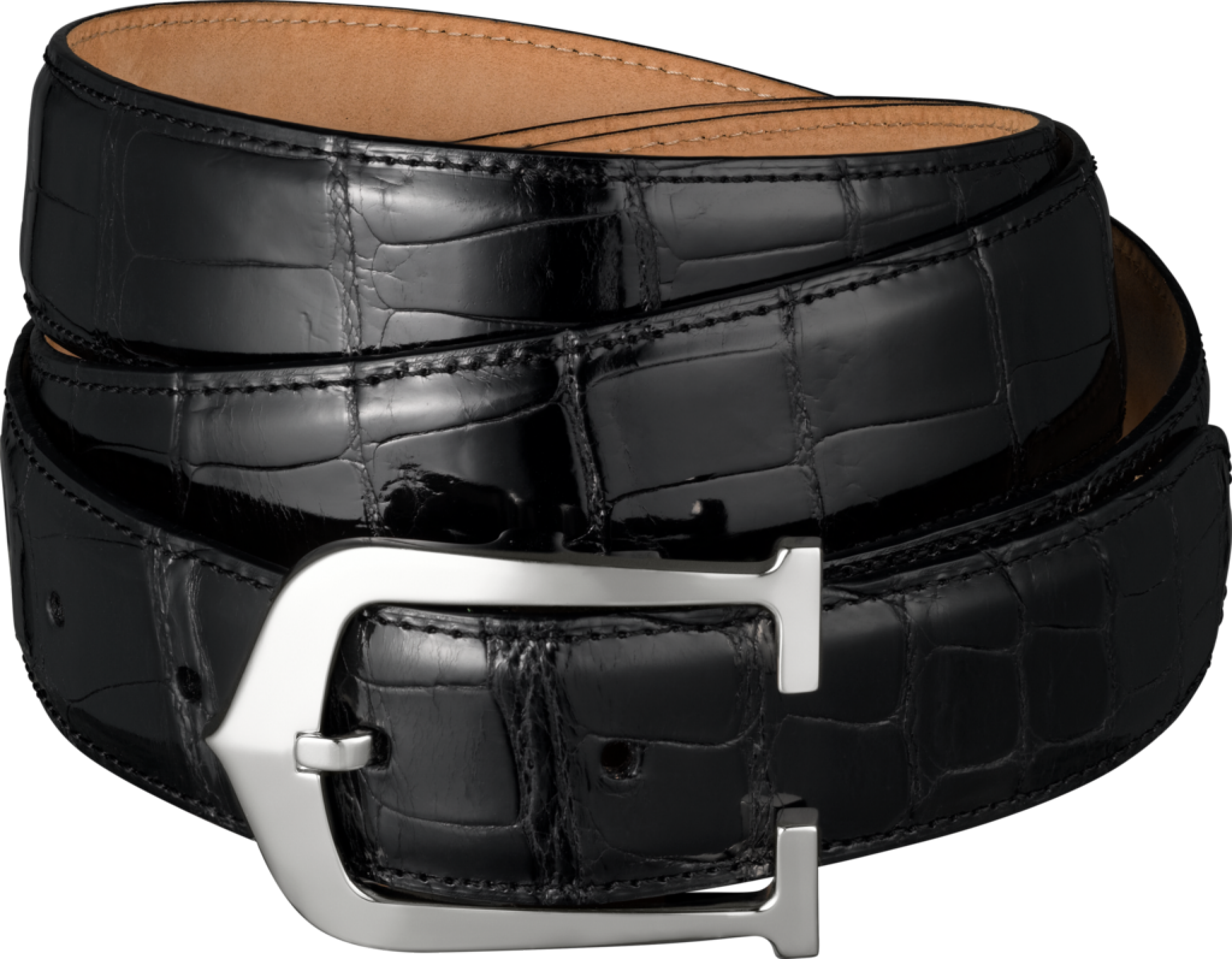 black leather belt PNG image