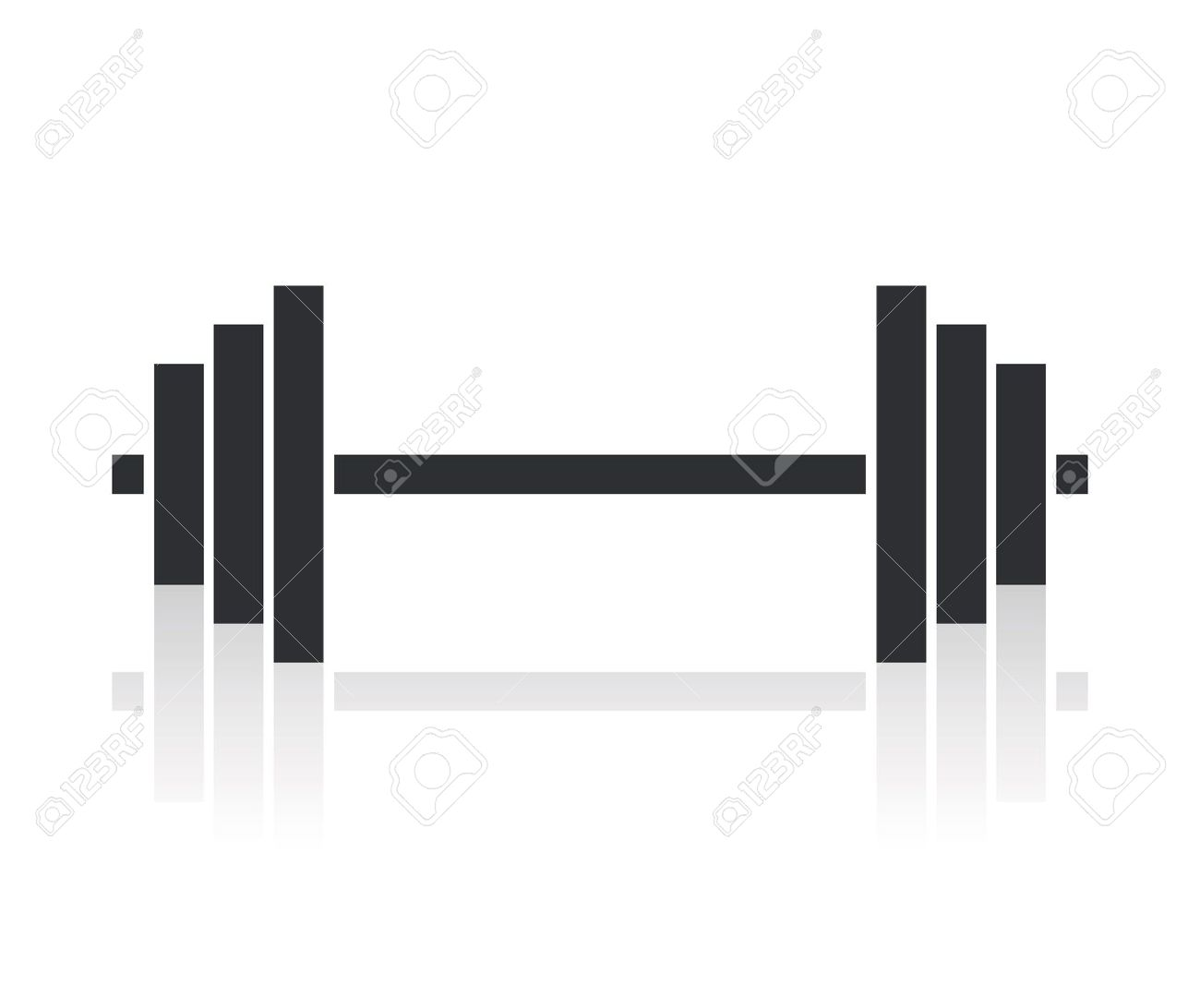 Bent Barbell PNG - 155619