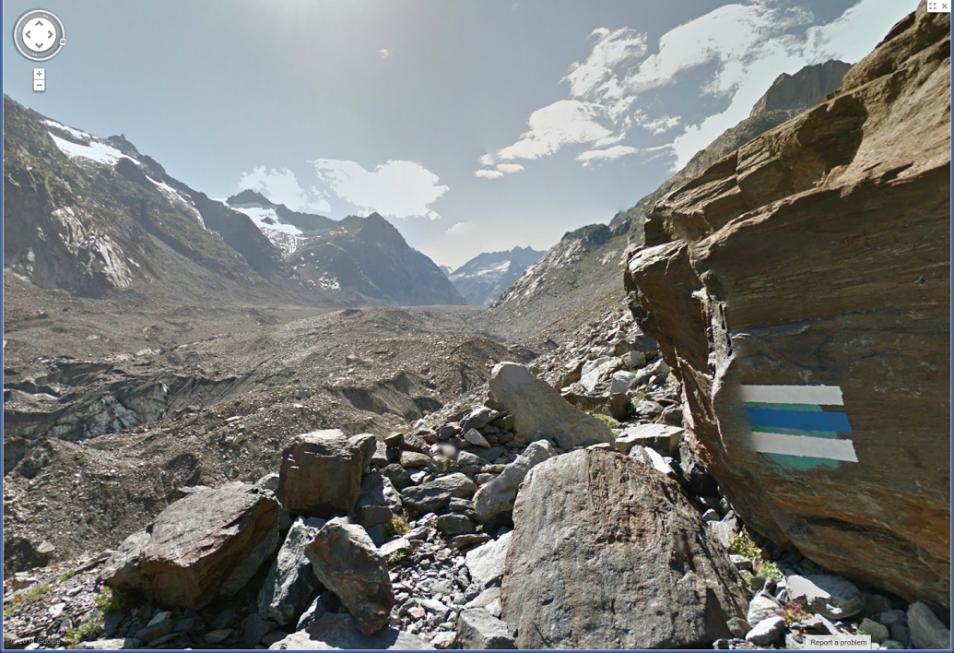 Markierter Wanderweg entlang des Gerölls Richtung Unteraargletscher. - Berg Erklimmen PNG