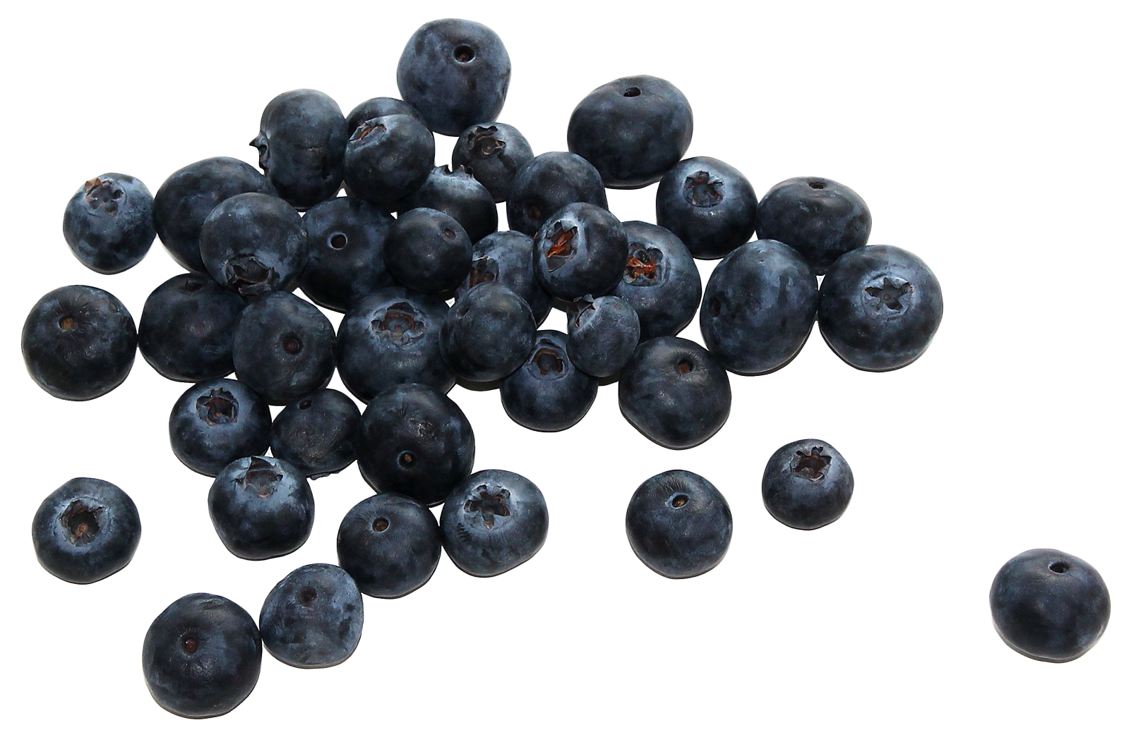 Group of Fresh Blueberries PNG image - Berries PNG