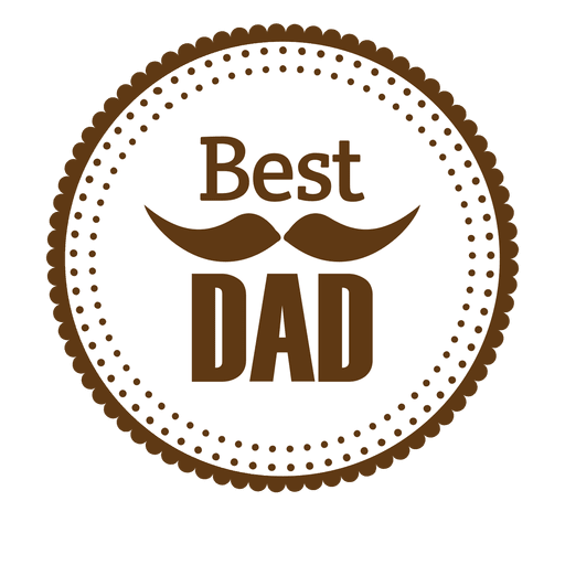 Best dad round badge Transparent PNG - Best Dad PNG