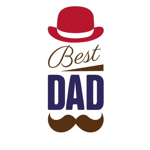 Fathers day best dad badge Transparent PNG - Best Dad PNG