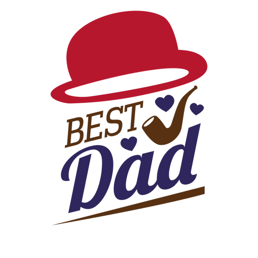 Fathers day best dad sticker Transparent PNG - Best Dad PNG