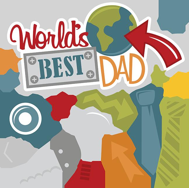 Worldu0027s Best Dad SVG files for scrapbooking dad svg files fatheru0027s day svg  cut files free svgs - Best Dad PNG