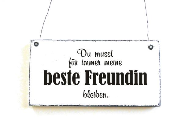Tür- u0026 Namensschilder - BESTE FREUNDIN Türschild Holzschild Dekoschild -  ein Designerstück von DOERPKIND bei DaWanda - Beste Freundin PNG