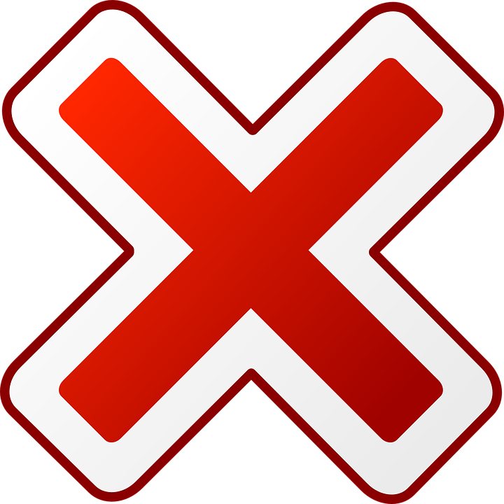 Free vector graphic: Red, Cross, Cancel, Cancelled - Free Image on Pixabay  - 30336 - Bianca Vector PNG