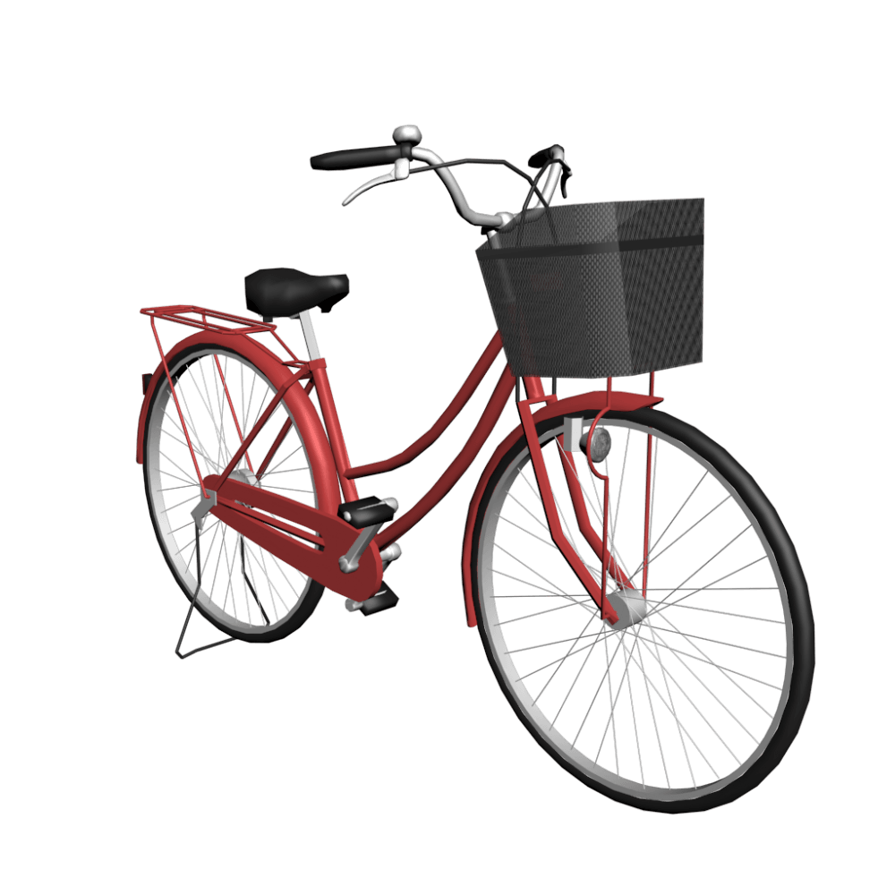Women Red Bicycle - Bicycle PNG