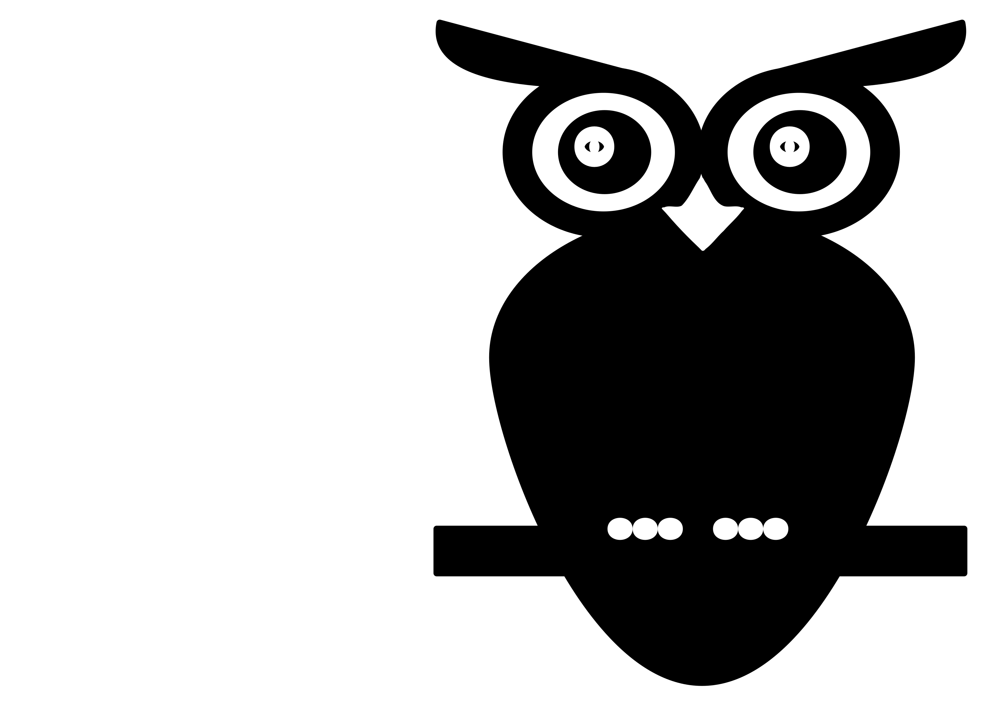 Black and White Owl - Big And Small PNG Black And White