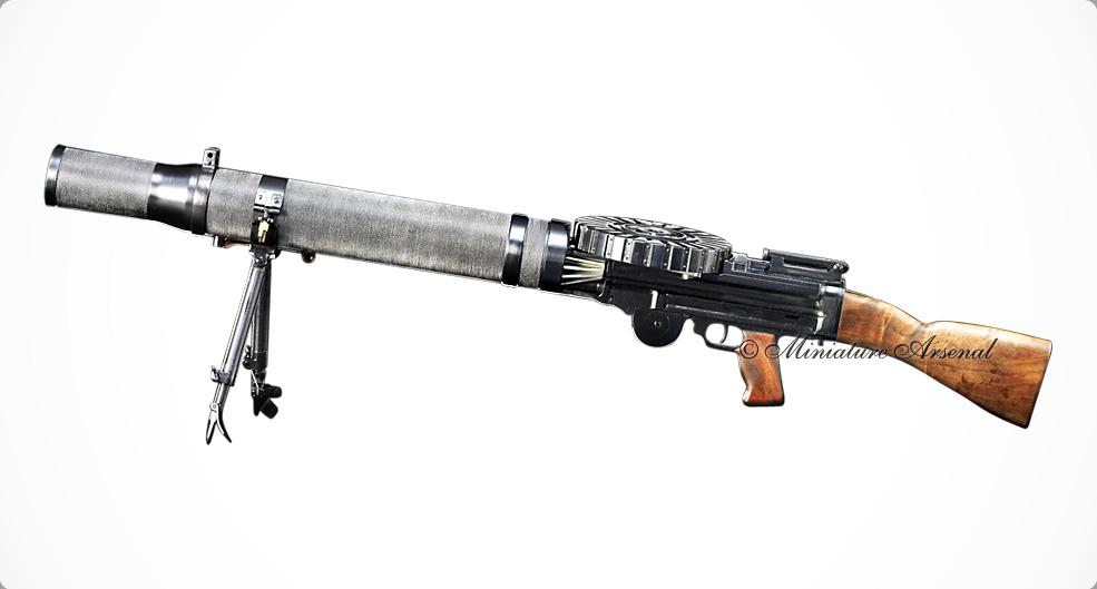 A miniature model of the original Lewis Automatic Machine Gun. - Big Guns PNG