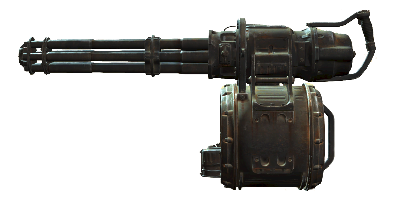 Fallout4 Minigun.png - Big Guns PNG