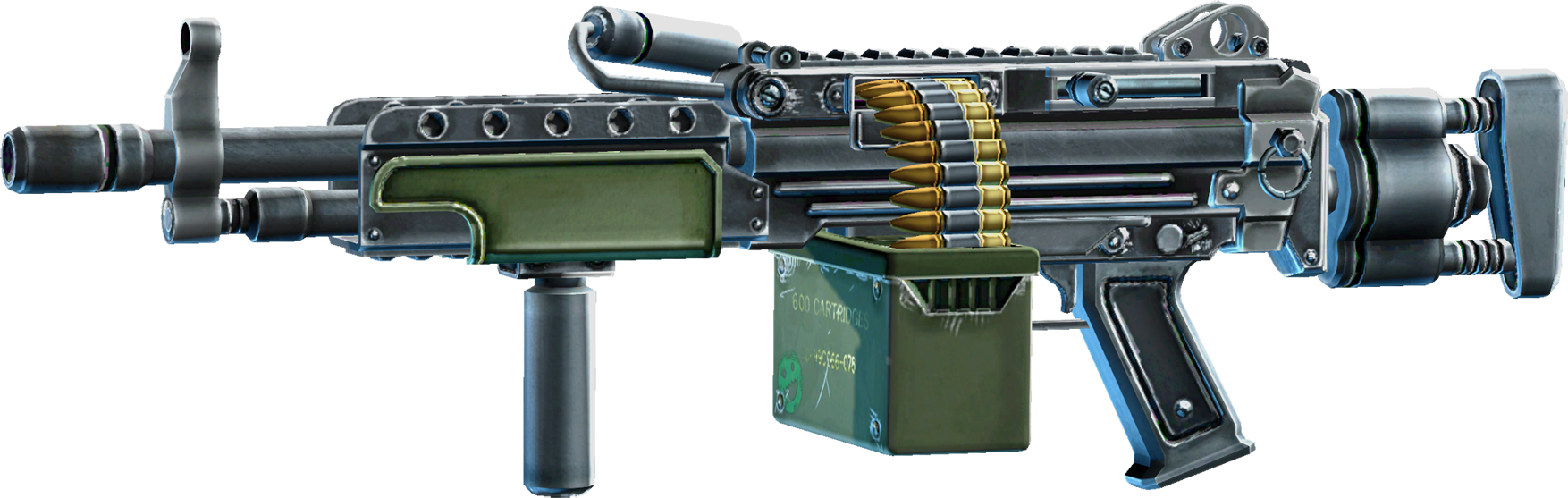 SRIV Rifles - Automatic Rifle - Mercenary LMG - Default.png - Big Guns PNG