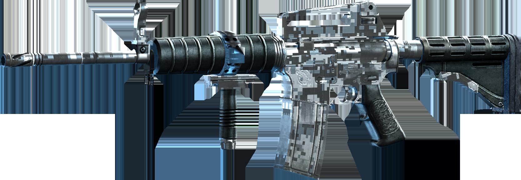 SRIV Rifles - Automatic Rifle - Shokolov AR - Digital Camo - Big Guns PNG