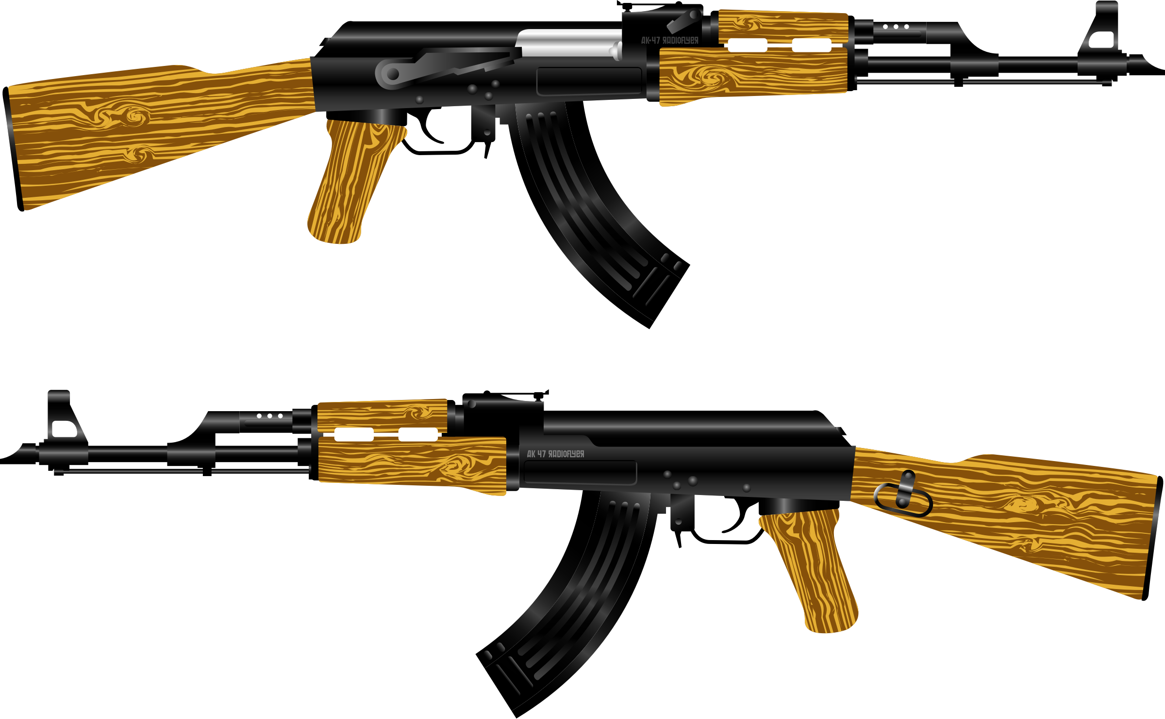 This free Icons Png design of AK 47 Rifle PlusPng.com  - Big Guns PNG