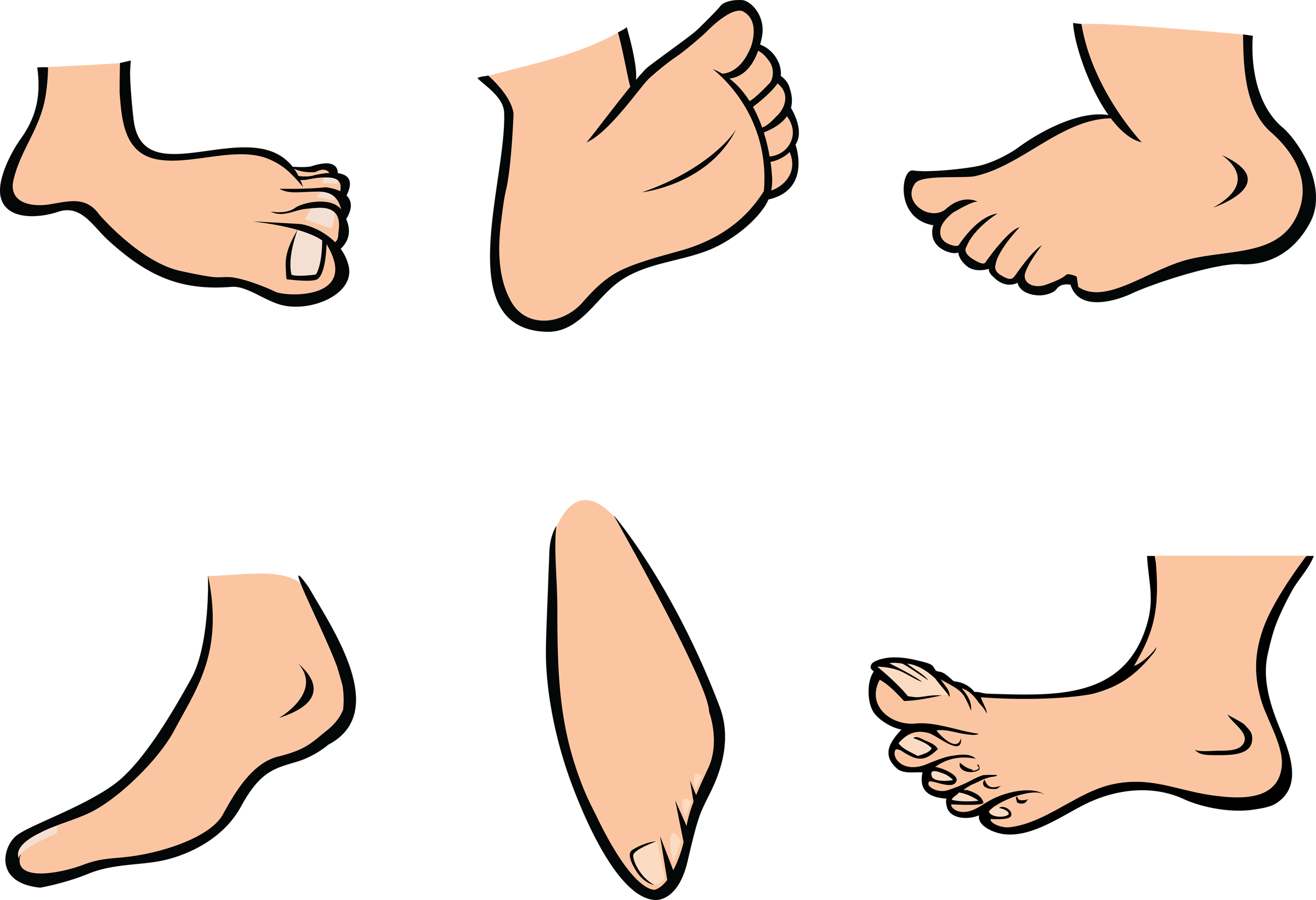 cartoon foot clipart - Big Toe PNG