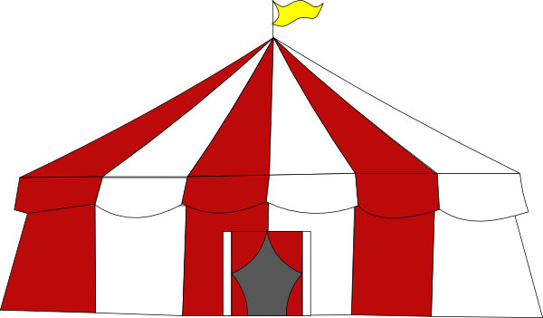 Free Clipart Of A big top cir