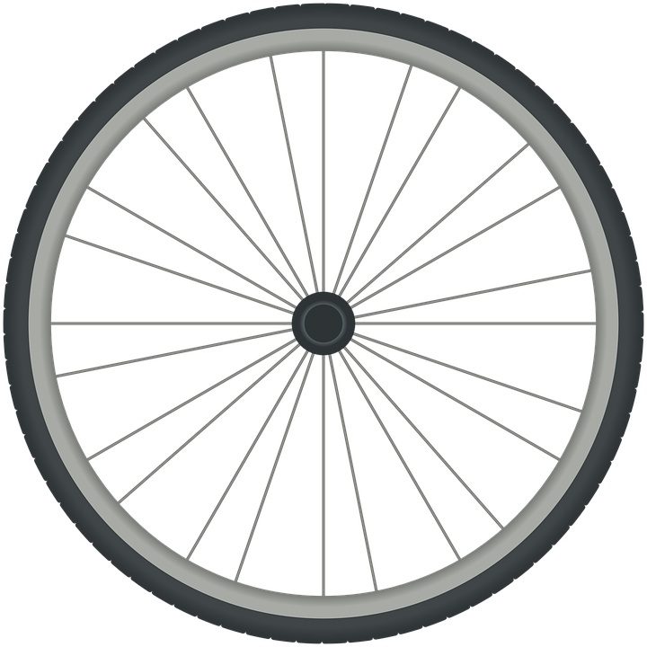Bicycle Wheel Bike Cycle Tyre Rim Spokes - Bike Tire PNG