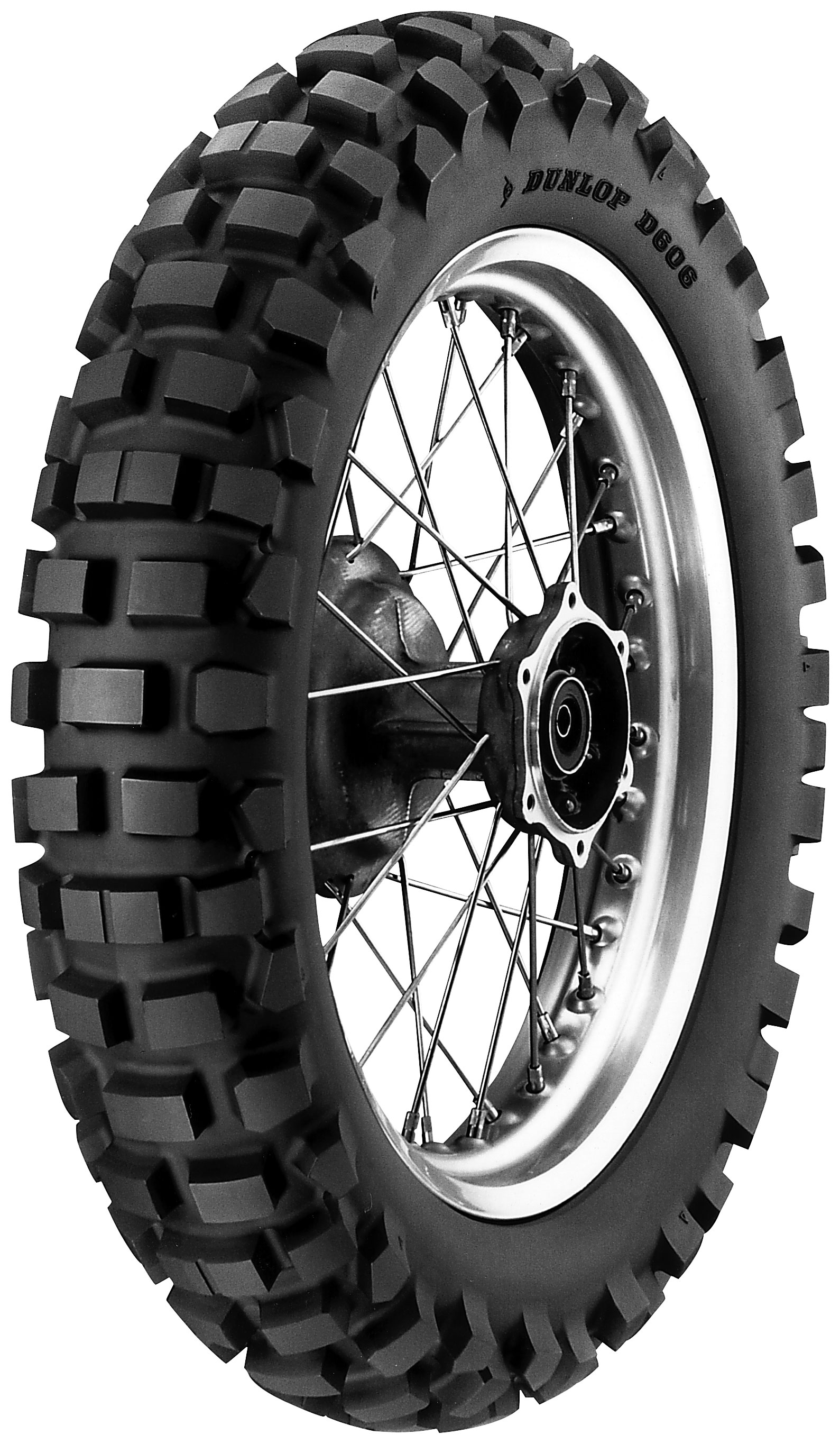 DUNLOP® D606 DUAL PURPOSE REAR TIRE - Bike Tire PNG