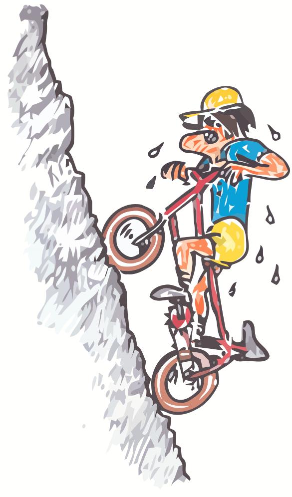 Biking Uphill PNG - 81928
