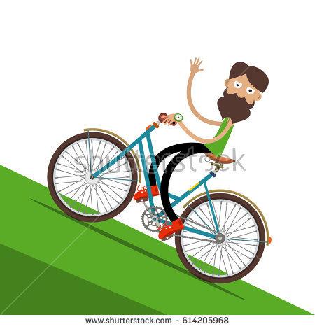 Biking Uphill PNG - 81934
