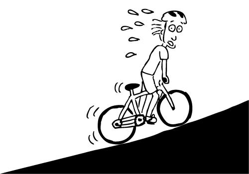 Biking Uphill PNG - 81926