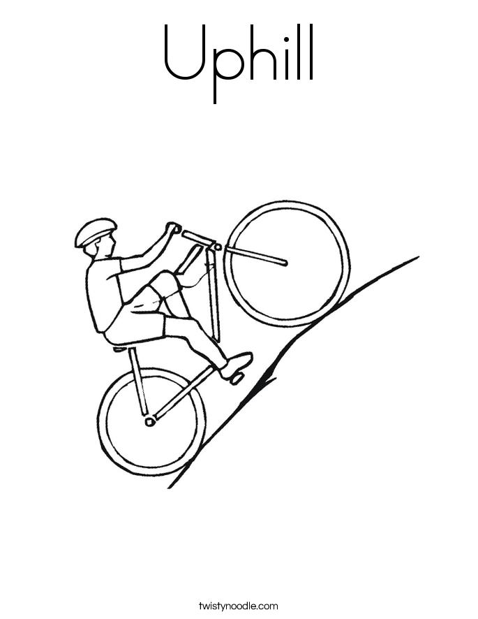 Biking Uphill PNG - 81935