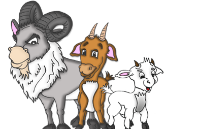 three billy goats gruff clipart - Billy Goat Gruff PNG