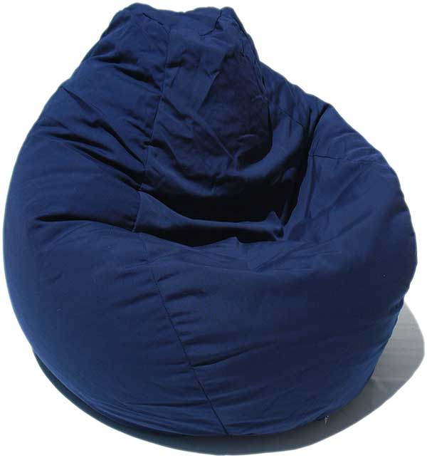 Outdura Navy Blue Bean Bag Chair - Bin Bag PNG