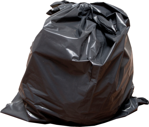 Poly Garbage Bag - Bin Bag PNG